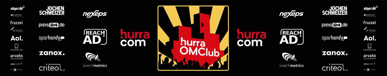 hurra® OMClub 2015, DIE HALLE Tor 2 in Köln, project a, Logogestaltung, Partylogo, reachad, searchmetrics,neXeps,hurra.com, zanox, sparhandy, billiger.de, criteo, jochen schweizer, preis24.de, AOL., FRUZZEL, arvato, kissmyads, chefkoch.de