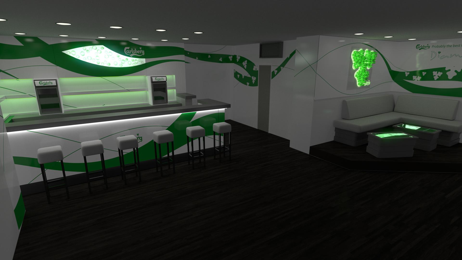 carlsberg,rendering,3d rendering,interior design,glas design,club,diamond, köln
