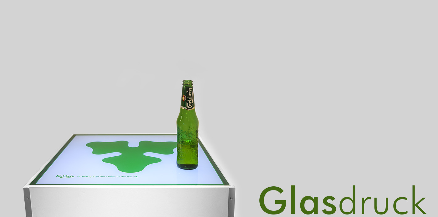 glasdruck, stehtisch, carlsberg, carlsberg tisch, bedruckung von glas, digitaldruck, glasveredelung, print, glasbearbeitung, project a, christopher baer