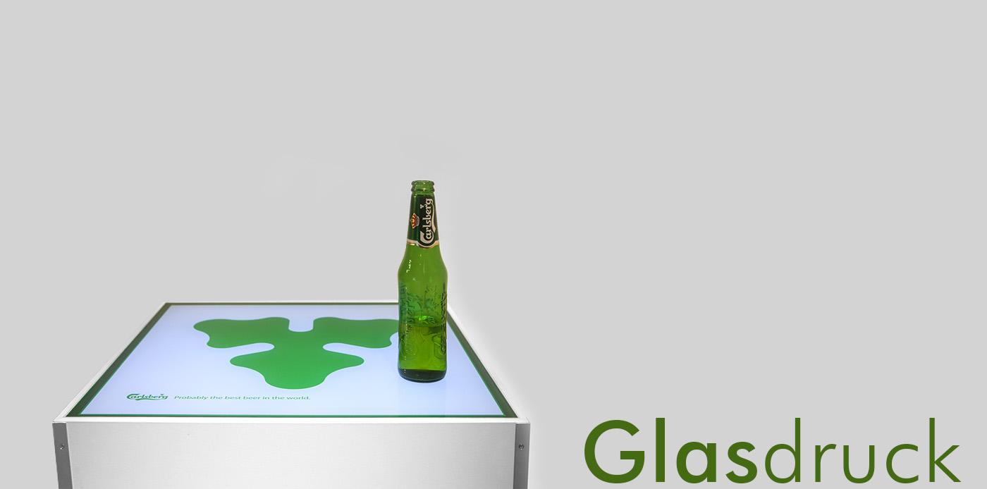 glasdruck, stehtisch, carlsberg, carlsberg tisch, bedruckung von glas, digitaldruck, glasveredelung, print, glasbearbeitung, project a, christopher baer