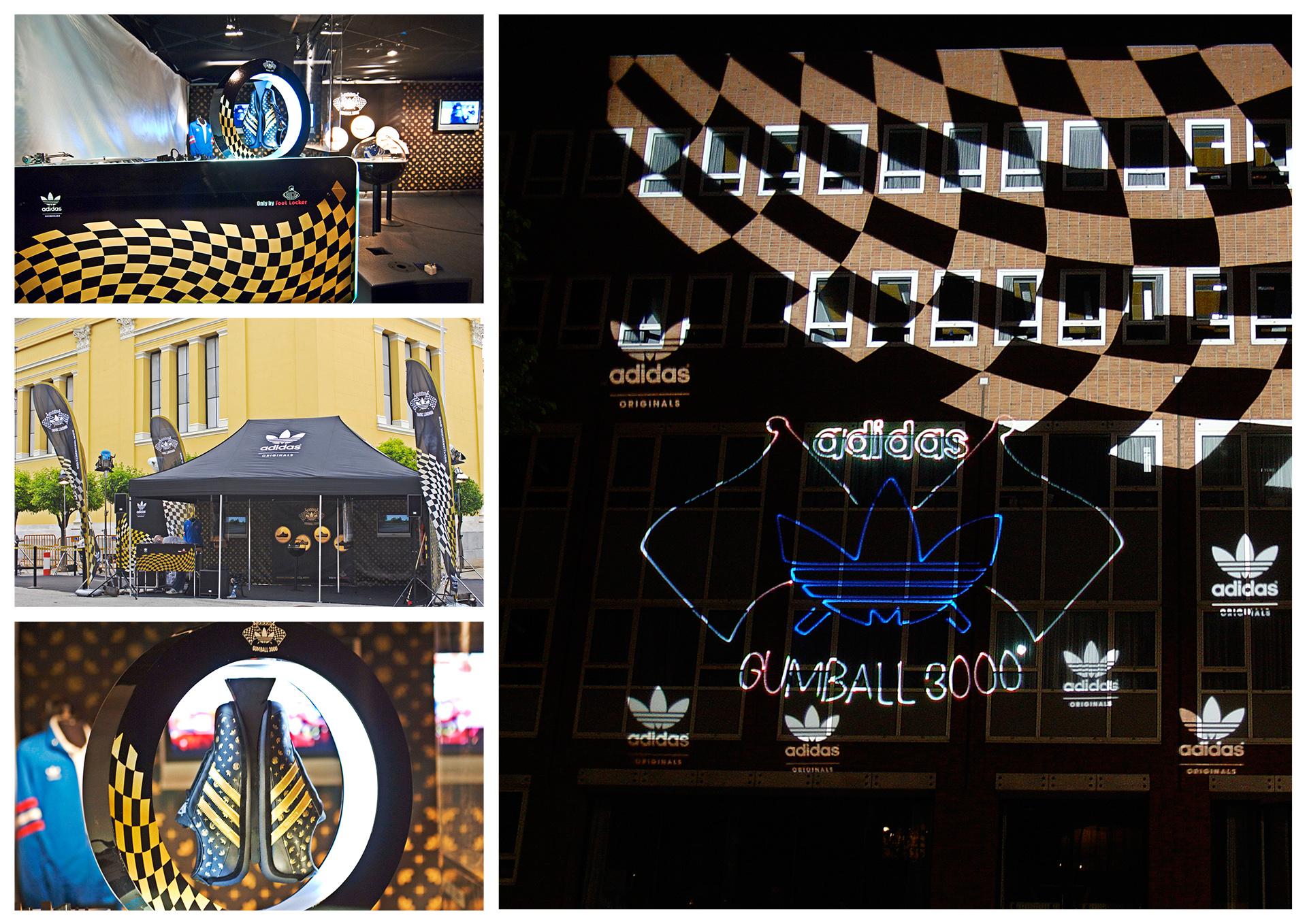 adidas, laserprojektion, lasershow, lasergrafiken, zelt, aufbau, promotion, schuhe,gumball 3000 streetrace,straßenrennen,project a, christopher baer,bochum,europatour,schudisplay, schuhpräsentation, schwebende schuhe