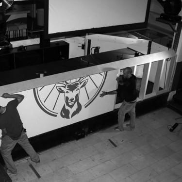 Jägermeister DJ Pult, Jägermeister, DJ Kanzel, DJ-Pult,DJ-Set, jaegermeister, Diamonds Club Köln, Cologne, veranstaltungstechnik, ladenbau, gastro, innenausbau, Gastronomie, erlebnisgastronomie, kreativbüro, design, gestaltung