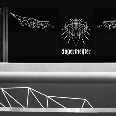 Jägermeister Bootshaus Köln, Jagermeister-logo, fotografie, dokumentation, lasercut, lasergravur, fotografie, lichtinstallation, led, grafik, design, bootshaus köln, Jägermeister