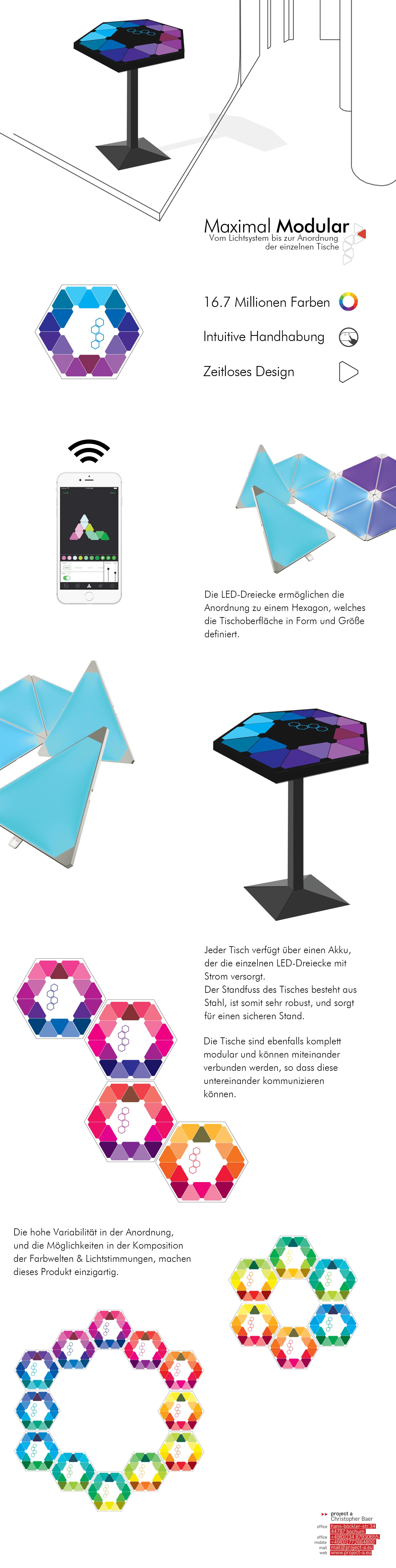 aurora, led lichtsystem, project a, stehtisch, designtisch, led leuchttisch, led module, aurora nanoleaf,